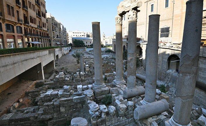 Руины римского города в центре Бейрута.