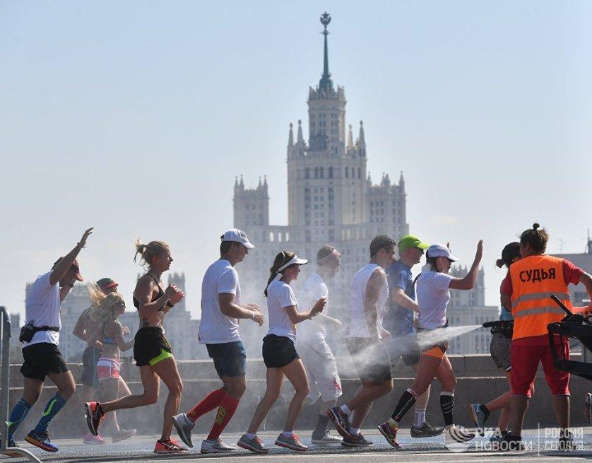 ماراتون رياضي في موسكو
