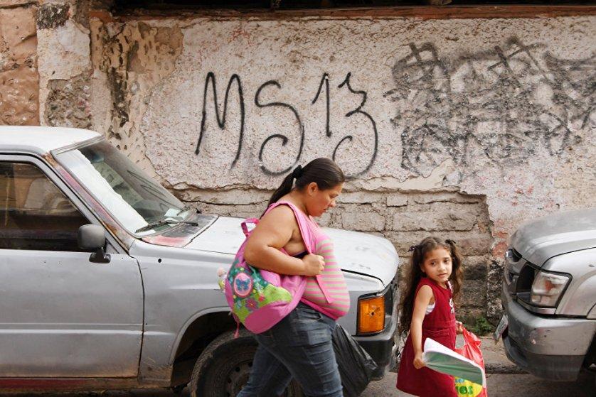 Граффити с символикой MS-13 можно встретить почти в любой стране Центральной и Южной Америки