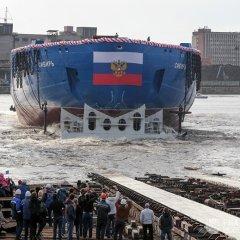 روسيا تدشن أحدث وأقوى كاسحة جليد نووية في العالم