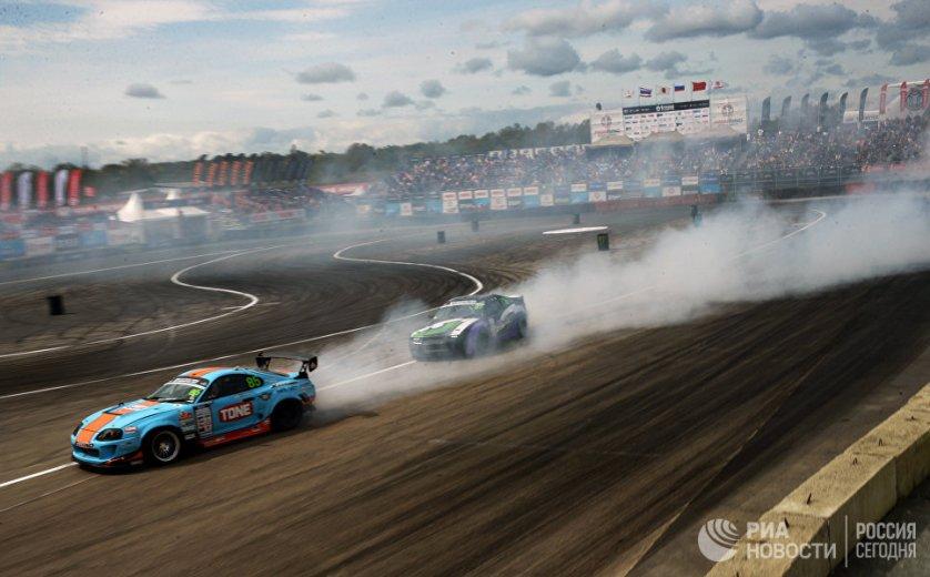 Международные соревнования по автомобильному дрифту Asia Pacific D1 PrimRingGP 2017 в пригороде Владивостока.