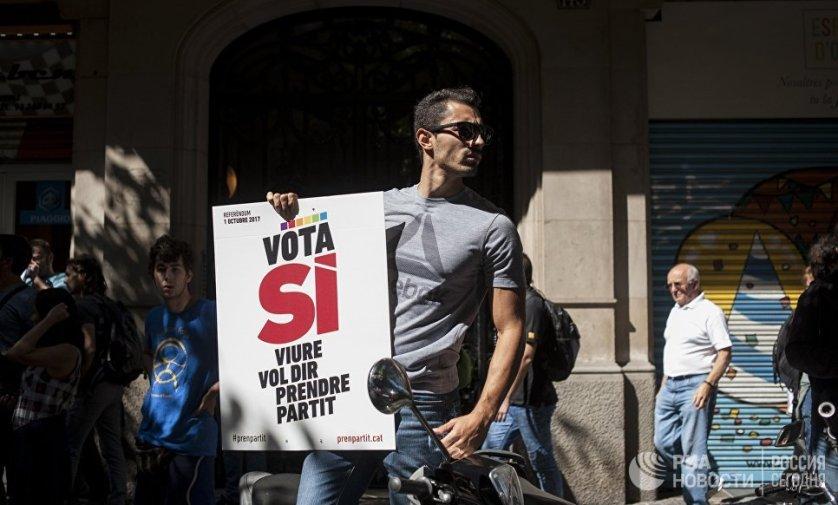 Сторонники независимости Каталонии призывают своих сторонников выйти на улицы Барселоны и других городов в знак протеста против действий испанских властей.
