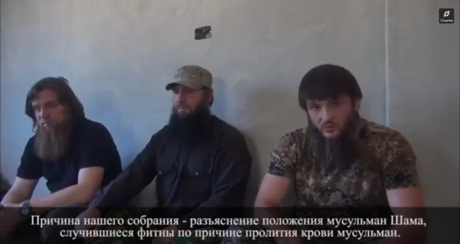 Лидеры трех чеченских группировок делают заявление о нейтралитете. Фото: twitter.com.