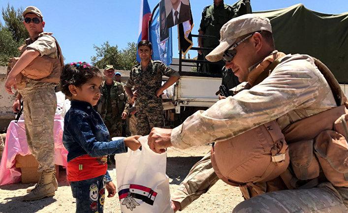 Российский центр по примирению враждующих сторон доставил гуманитарную помощь в сирийскую провинцию Кунейтра