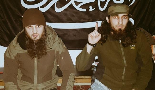 Эмир «Аджнад аль-Кавказ» Абдул Хаким Шишани слева. Фото: twitter.com.