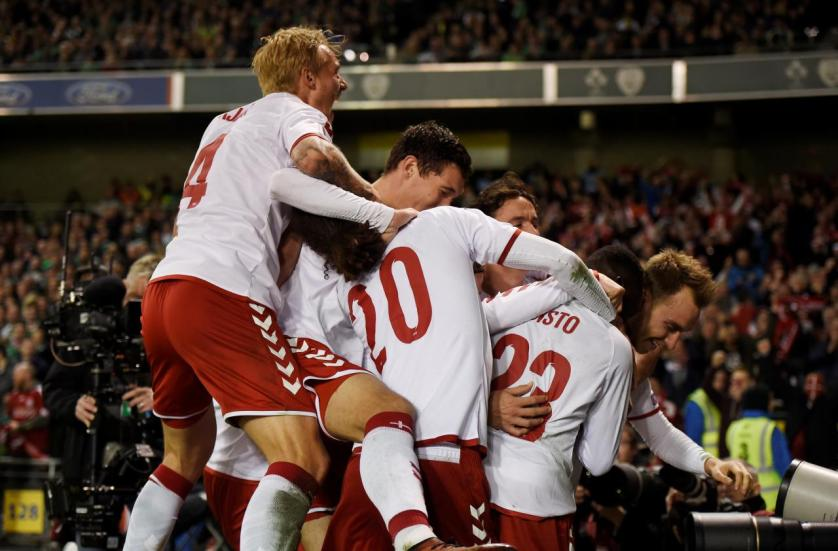 الدنمرك تقسو على أيرلندا بخماسية وتصعد لكأس العالم في روسيا