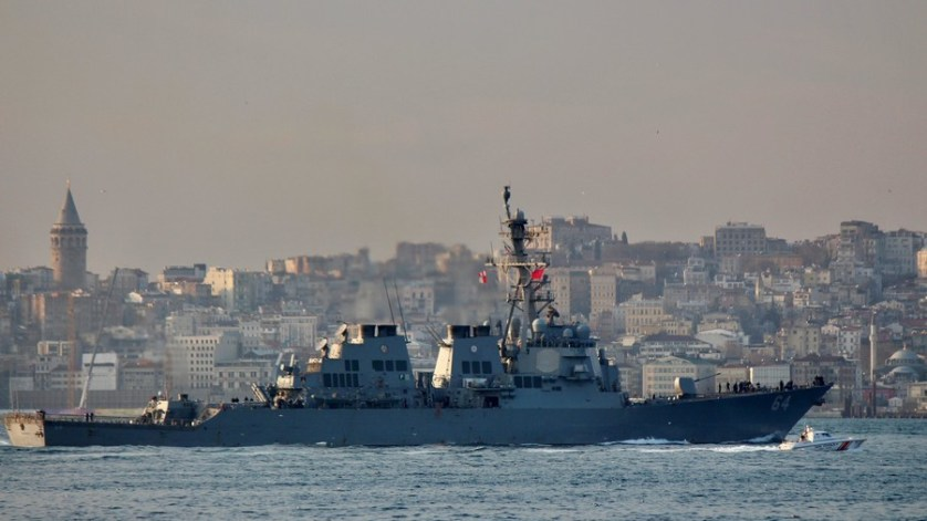 US Navy destroyer arrives in Black Sea on 'familiar mission'
