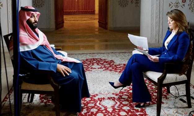 """مقابلة """"سي بي أس"""" مع بن سلمان جريمة بحق الصحافة"""