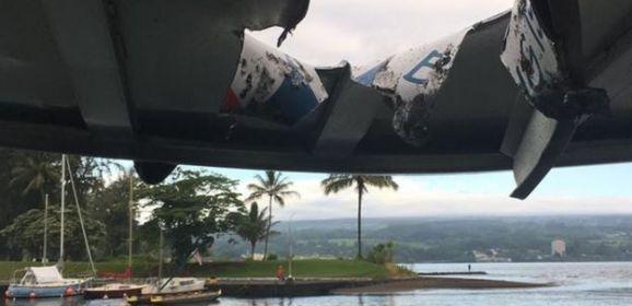 """""""قنبلة"""" حمم بركانية تسقط على سفينة سياحية في هاواي فتصيب 22 شخصا"""