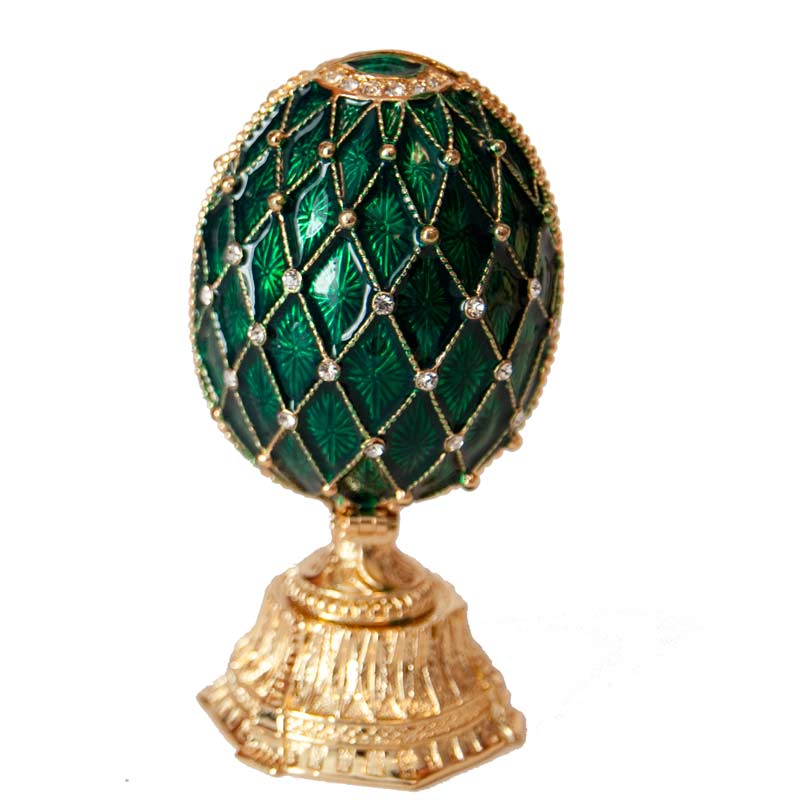Faberge Syle Jewelry Easter Egg With Saint Basic