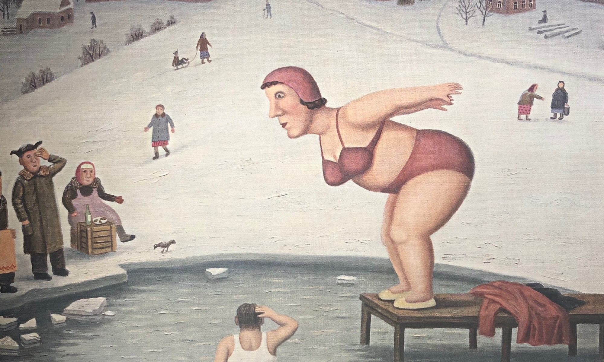 winter swimming in Russia