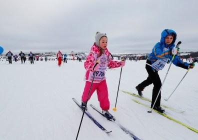Сотни тысяч россиян вышли в субботу на лыжню