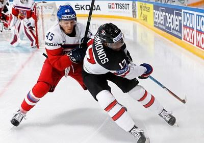 Сборная Канады обыграла Чехию в матче чемпионата мира по хоккею