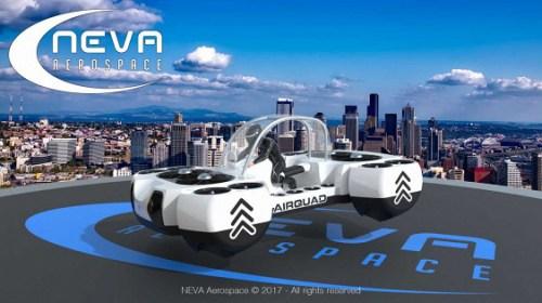 Компания Neva Aerospace представила летающий «квадроцикл»