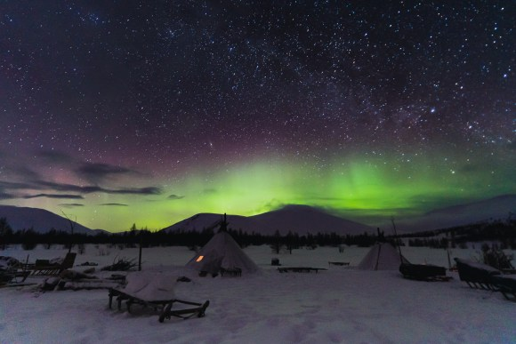 The night sky and northern lights on our arctic photography trip