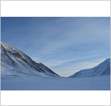 The vast expanse of the Russian arctic