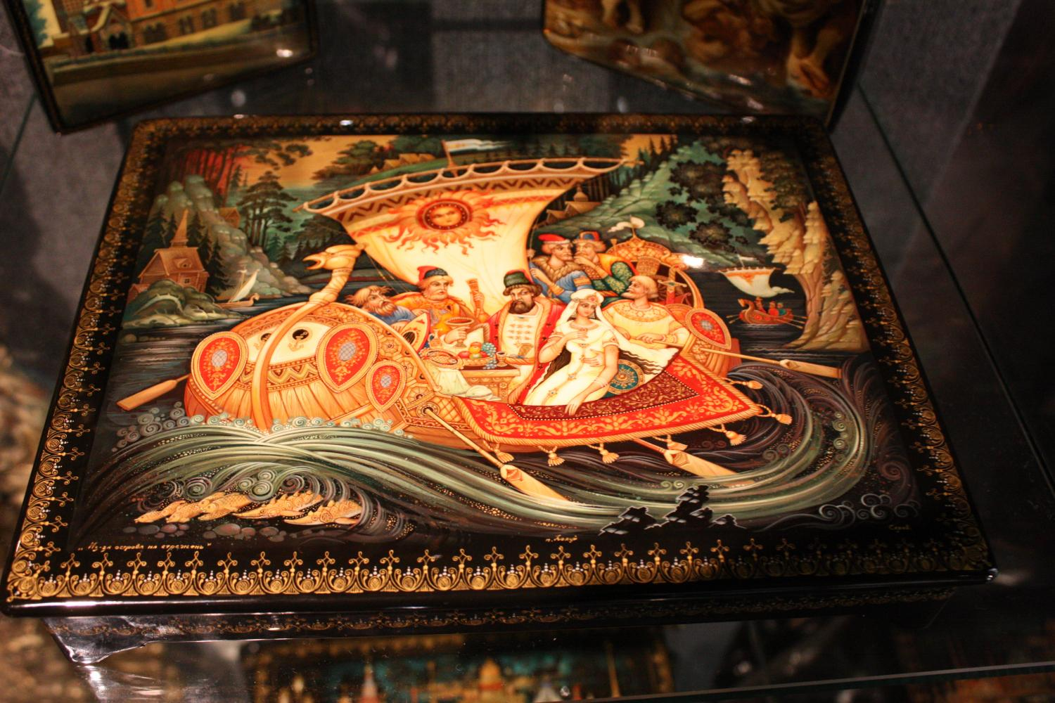 Russian lacquer art, russische Lackminiaturen, St. Petersburg, 2009, magazin