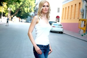 femininity Ukrainian woman from city Odessa Ukraine
