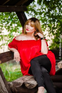 Woman russian for happy family