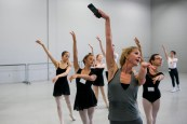 Deanna Stetsura-Kerchner teaching ballet class at ARCB