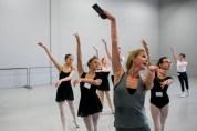 Deanna Stetsura-Kerchner teaching ballet class at ARCB