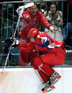 The Ovechkin leap after the Brodeur Goal.