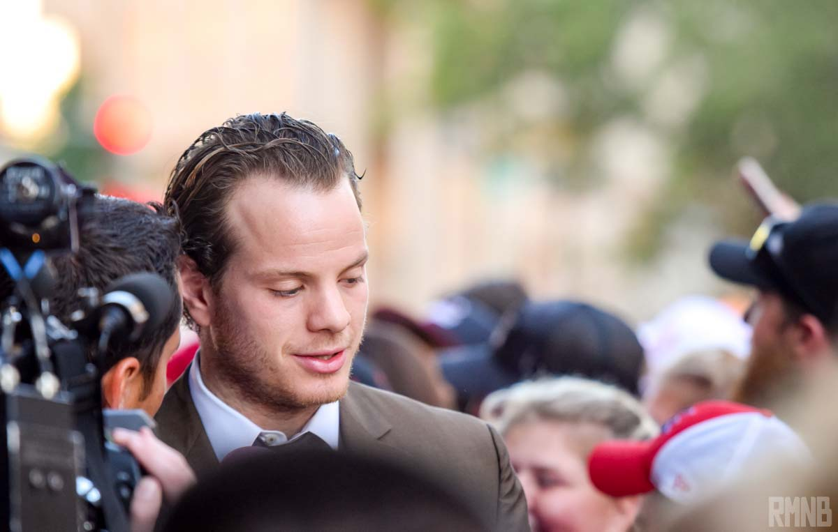 John Carlson arrives on the red carpet