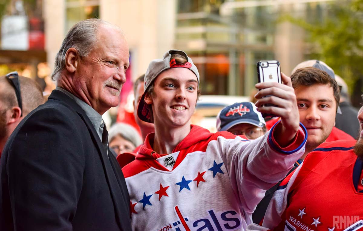 Caps HOF'er Rod Langway poses for a selfie