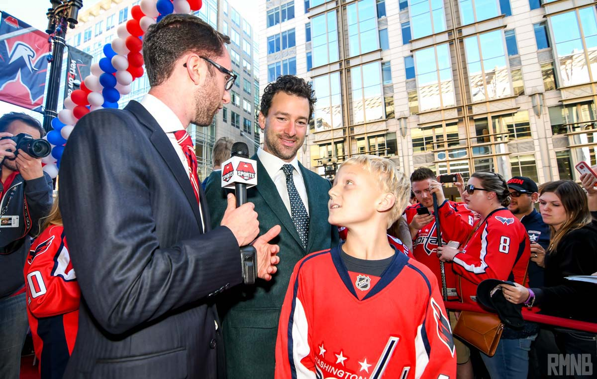 Justin Williams stops for an interview