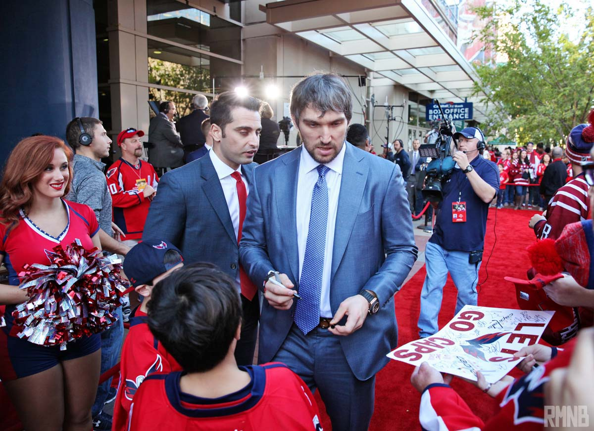 A Caps spokesman speaks with Ovi