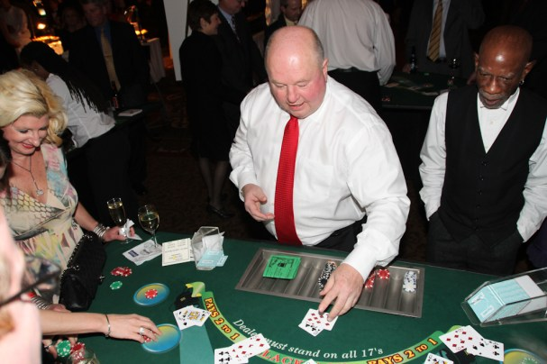 Bruce still at the Poker Table