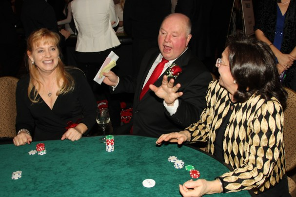 Bruce Boudreau entertains at the poker table