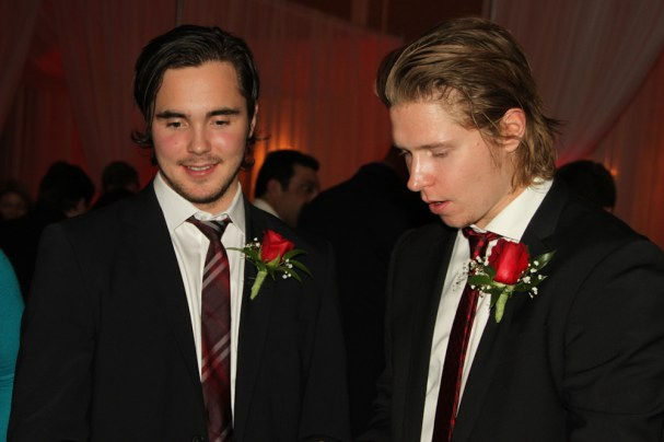 Super-Swedes Marcus Johansson and Nicklas Backstrom at Casino Night