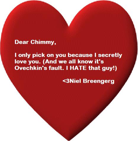 Valentine's Day Card for Jason Chimera
