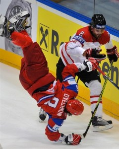 The Russian Machine decided to play the third period upside-down just to make the game more even. Whatta guy!