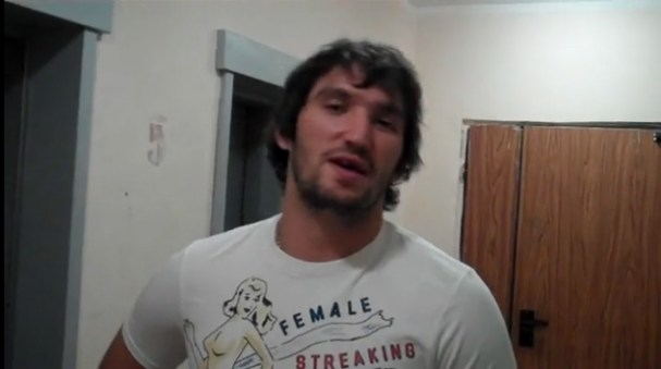 Alex Ovechkin in his Female Streaking T-Shirt
