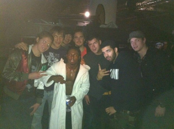 Alex Ovechkin snags a photo with Lil' Wayne