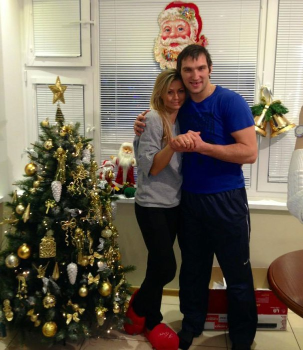 Alex Ovechkin and Maria Kirilenko Show Off Their Engagement Ring