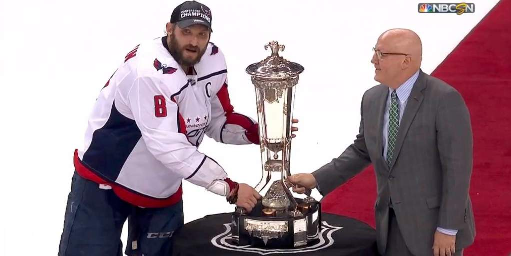 60fb96f012c Alex Ovechkin and the Capitals were not scared to touch the Prince of Wales  Trophy