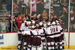 Bourque Scores, Bears Win. Hershey only 2 more victories away from returning to the AHL Finals. (Photos by Kyle M.)
