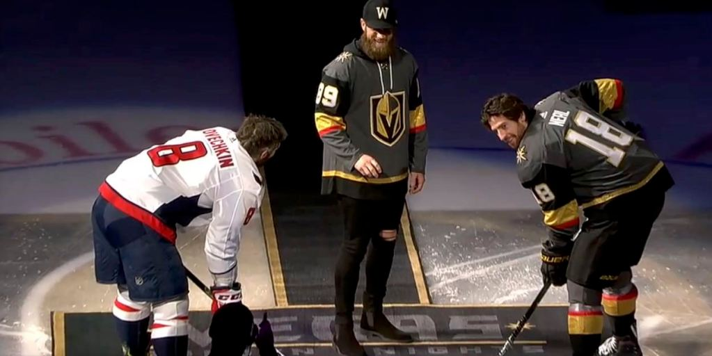 sale retailer 7d55d 3b18e Bryce Harper drops puck before Capitals-Golden Knights game ...