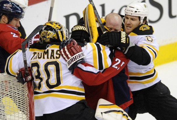Jason Chimera Gets Chippy With Tim Thomas