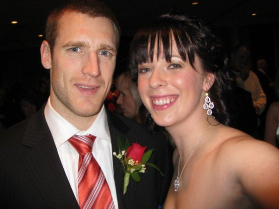 Emily posing with Brooks Laich. WHAT A DREAMBOAT!!!!!!!!!!