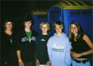 Mitchell (second to the left) and Talita (first to the right) when they first met in 2005.
