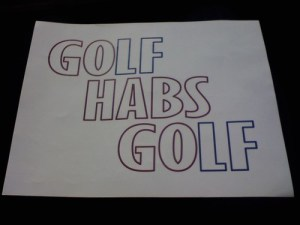 Golf Habs Golf? Sadly, Montreal's Skins Game Is Put Off For Another Day. (Photo via @katerstheace)