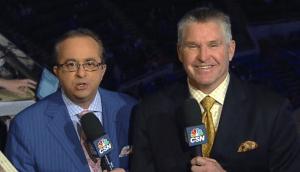 Joe B suit of the night: blue!