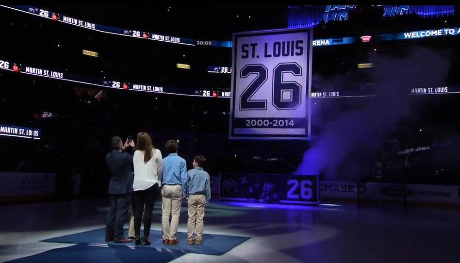 Tampa Bay Lightning retire Martin St. Louis   26 jersey during emotional  ceremony 35164d51b