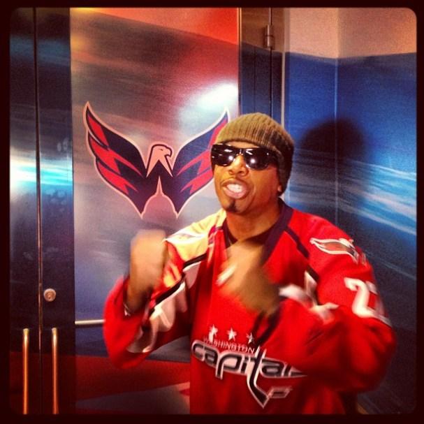 MC Hammer at Washington Capitals game