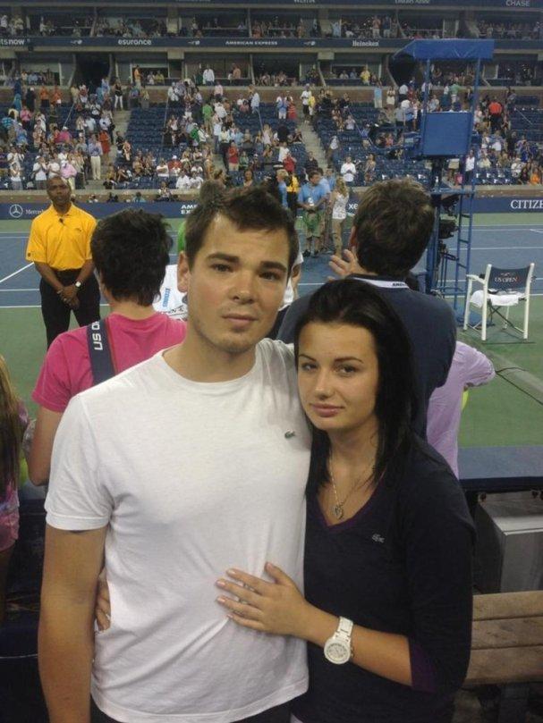 Michal Neuvirth and his girlfriend