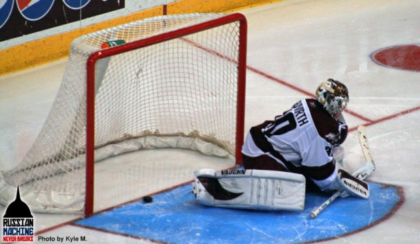 Despite Michal Neuvirth making 24 saves tonight, the Bears fall to the Stars 2-1 in Game 1 of the Calder Cup Finals.